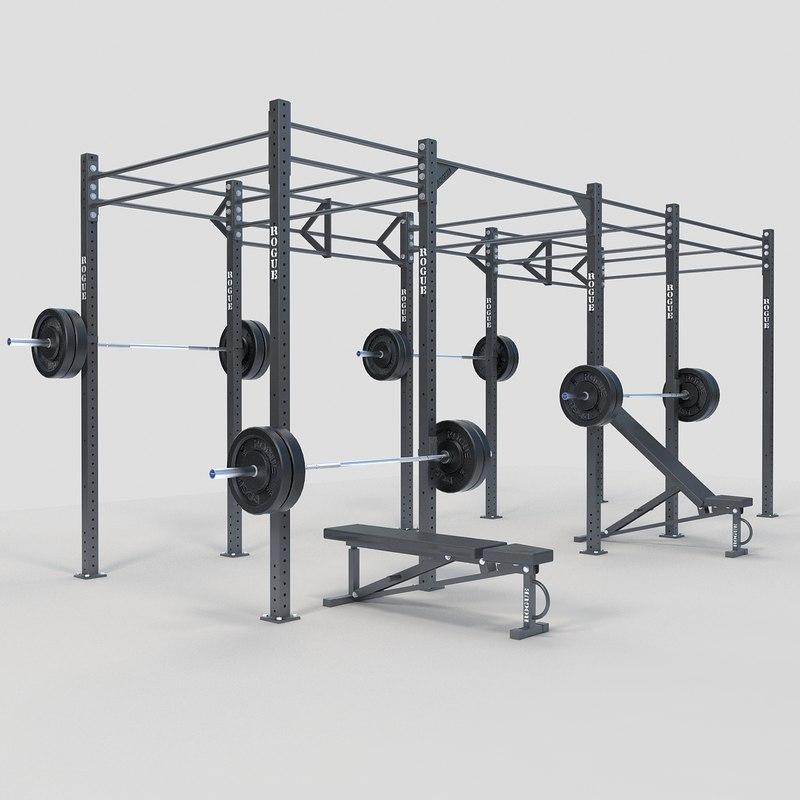 rack bar 3d max