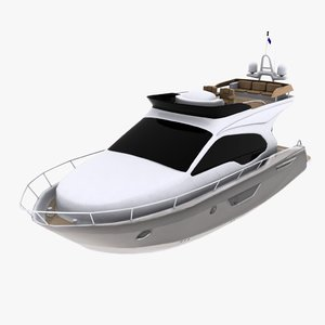 yacht cruise 3d model