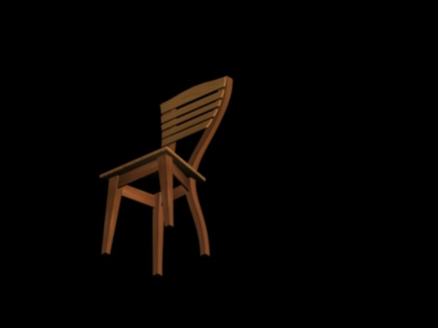 3d model of wood chair