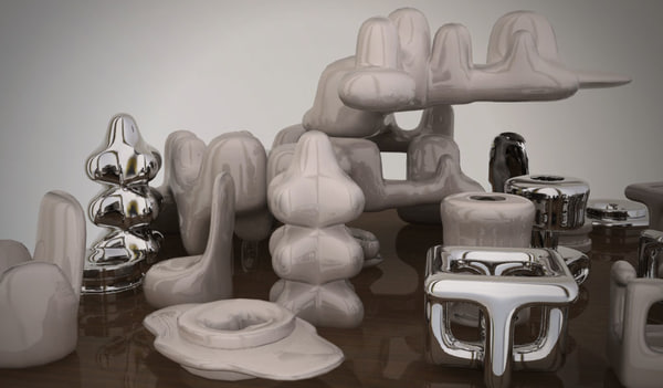 3d miscellaneous small desk statues