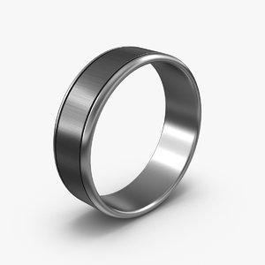 3d male wedding ring model