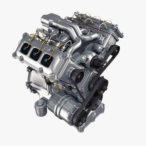 3d engine v6 model