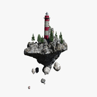3ds max lighthouse island