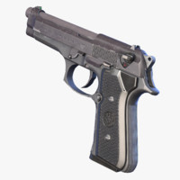 ready beretta 92fs 3d model