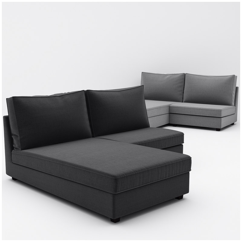 3d kivik ikea 6 sofa model