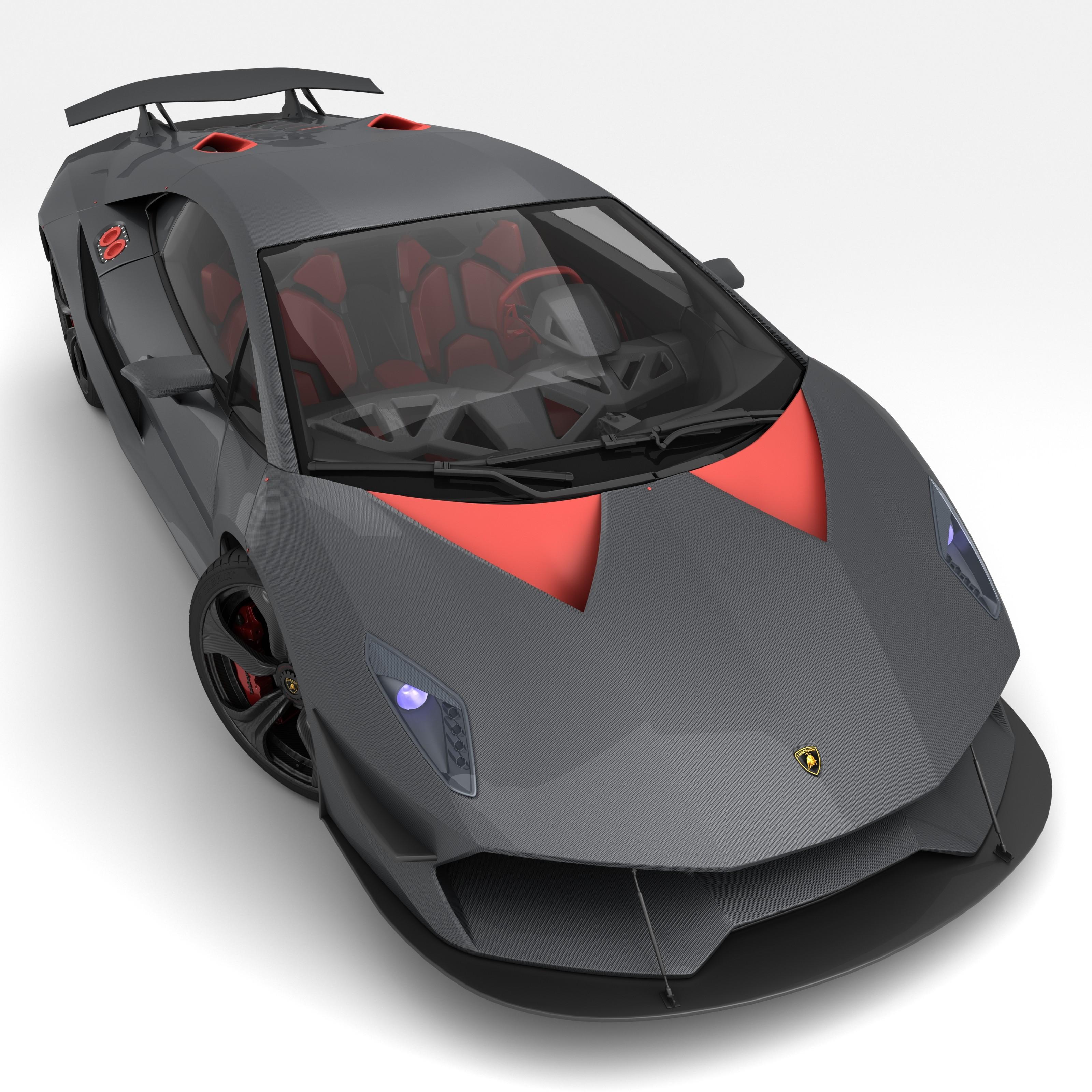 Lamborghini Sesto Elemento: Obj Lamborghini Sesto Elemento