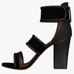 woman heel shoes 3d obj