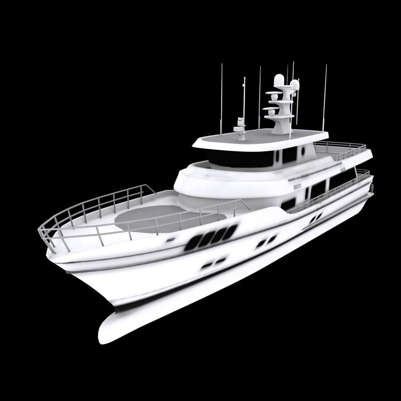 boats engines 3d max