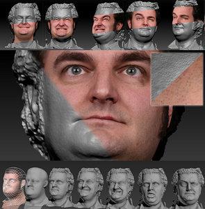 3d scan male face 1 model