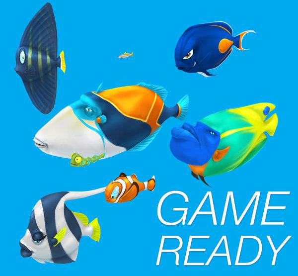 3d cartoon fish pack