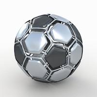 Soccerball dissasembled metal