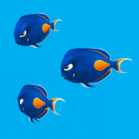 cartoon fish - tang 3d model