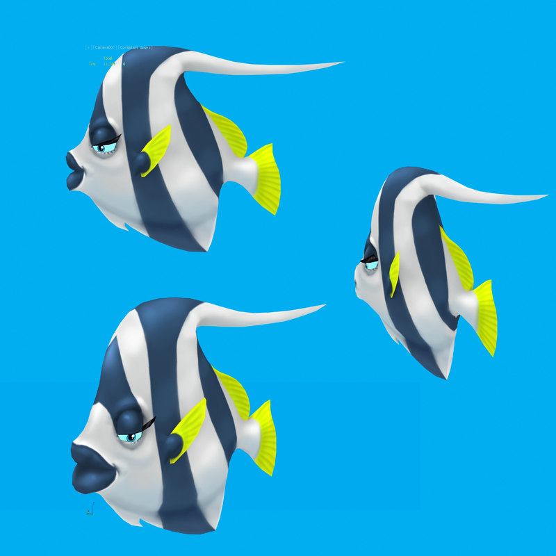 cartoon fish - fbx