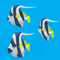 cartoon fish - fbx