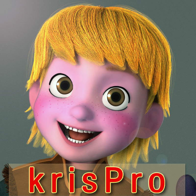 Kristoff young rigged 3d model turbosquid