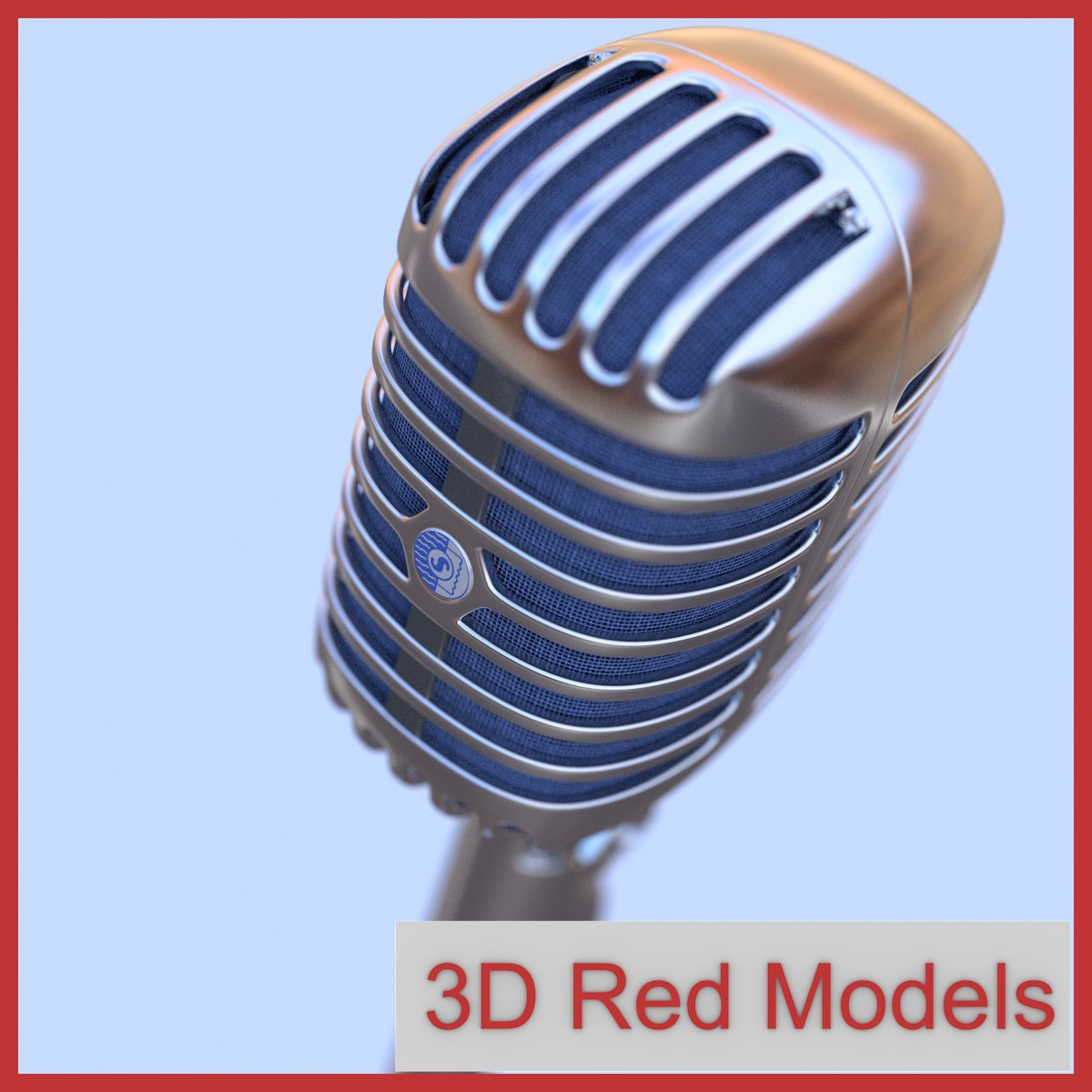 shure brother 55s microphone 3d model