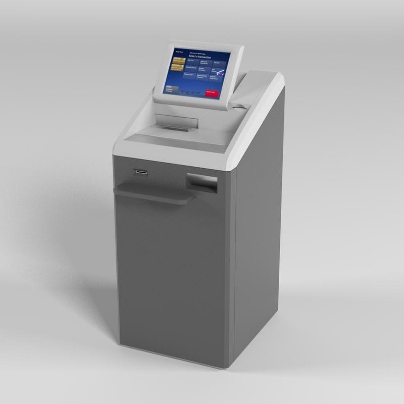 bank statement machine 3d max