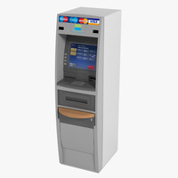3d model of atm machine