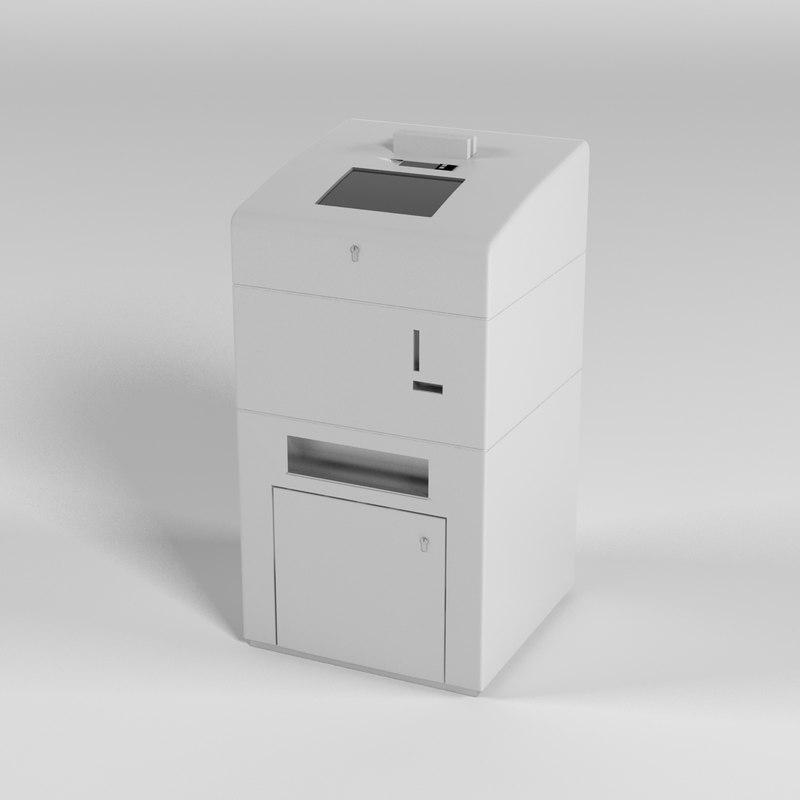 bank coin counter 3d max