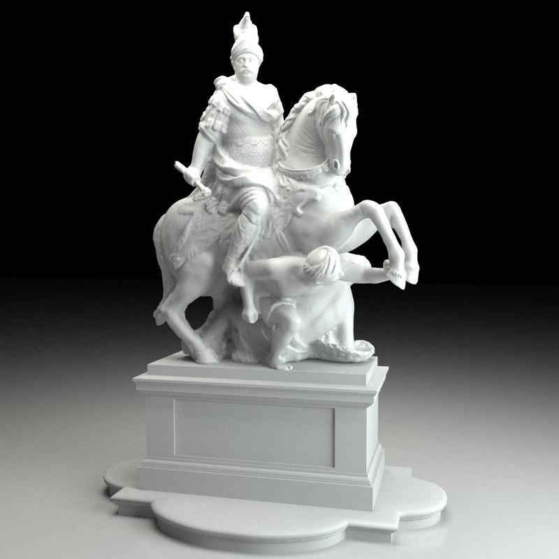 sculpture jan iii sobieski 3d obj