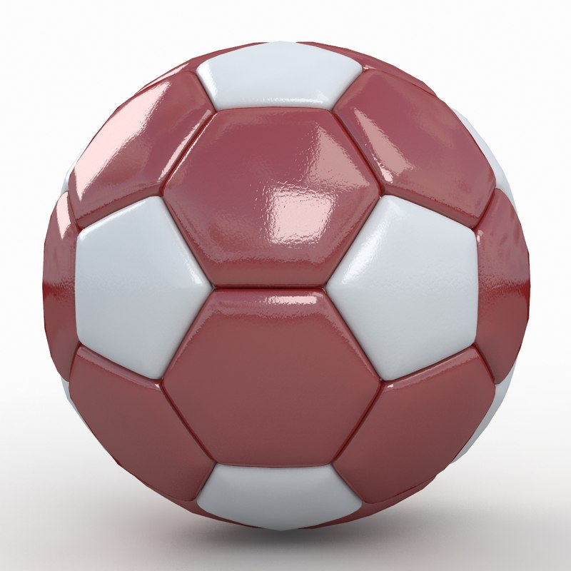 3d model soccer ball white