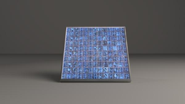 free solar realistic 3d model