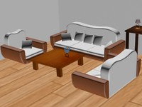free nighlight table sofa 3d model