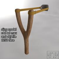 3d model sling slingshot