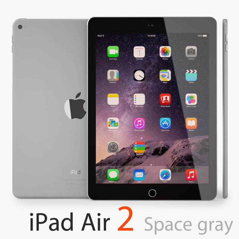 apple ipad air 2 3d model