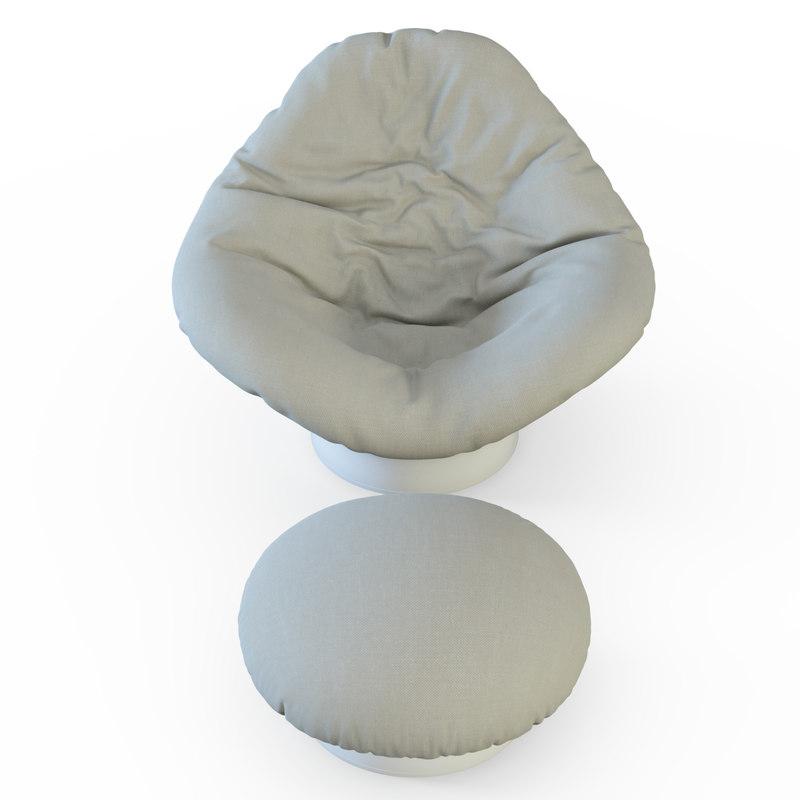 armchair longhi chair 3d max
