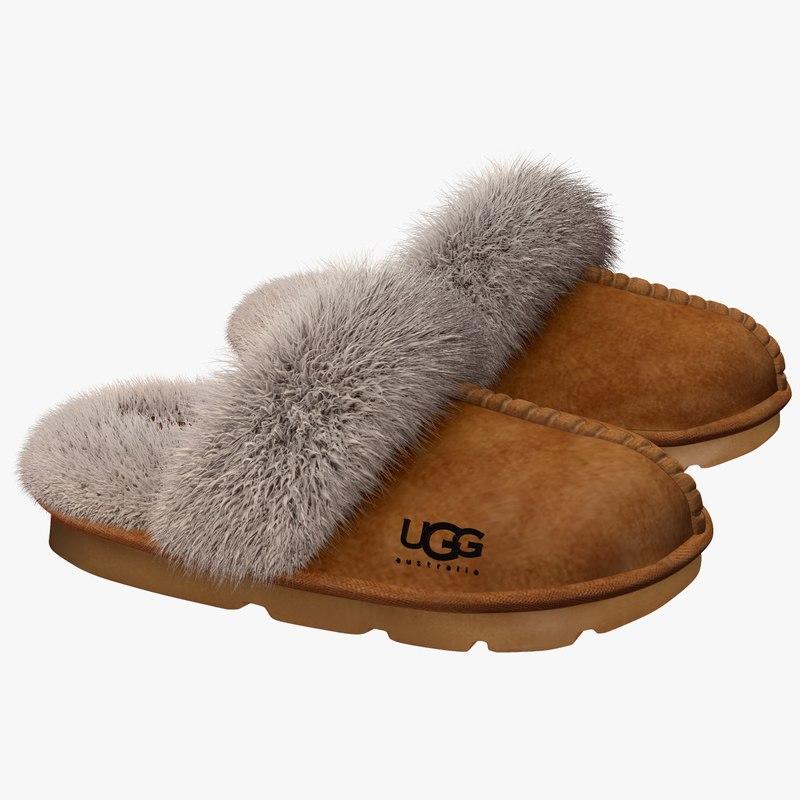 uggs shoe 3d obj