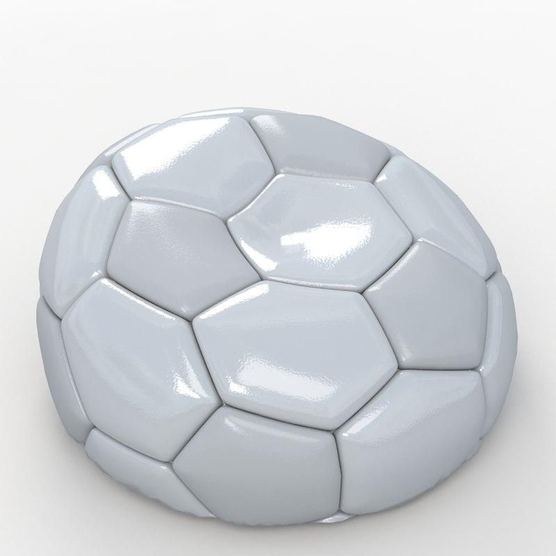 3dsmax soccer ball white