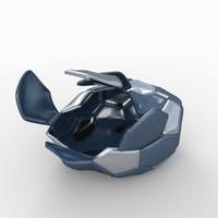 soccer ball black 3d dxf