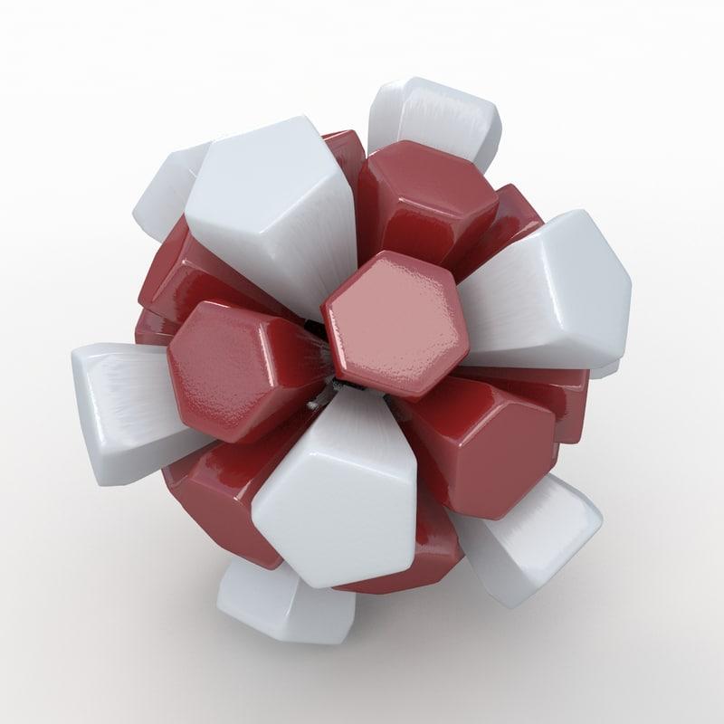 3ds max soccer ball white