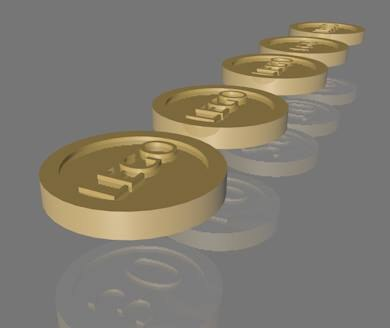 3d model lego coin