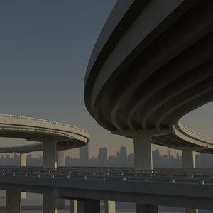 freeway street highway 3d ma