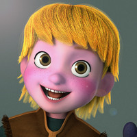 3d boy man child model