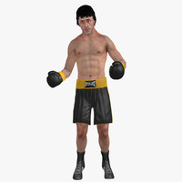 rocky rigged 3d max