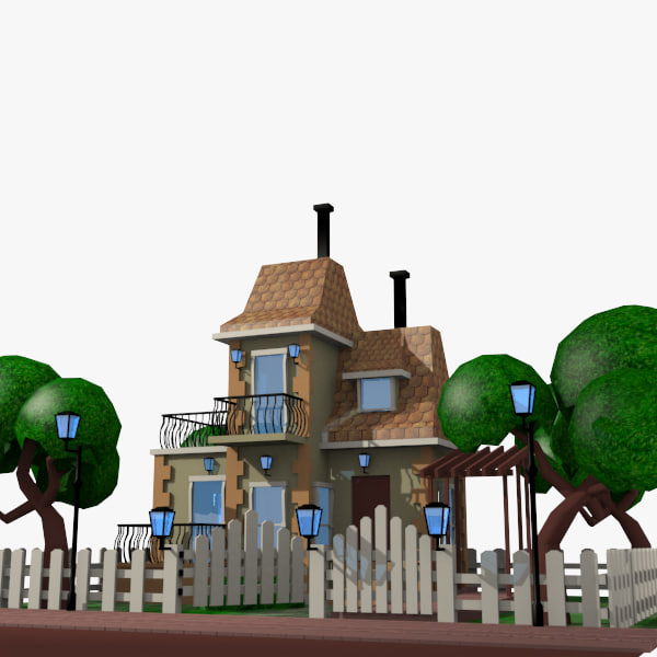 3d of 2 cartoon movie houses