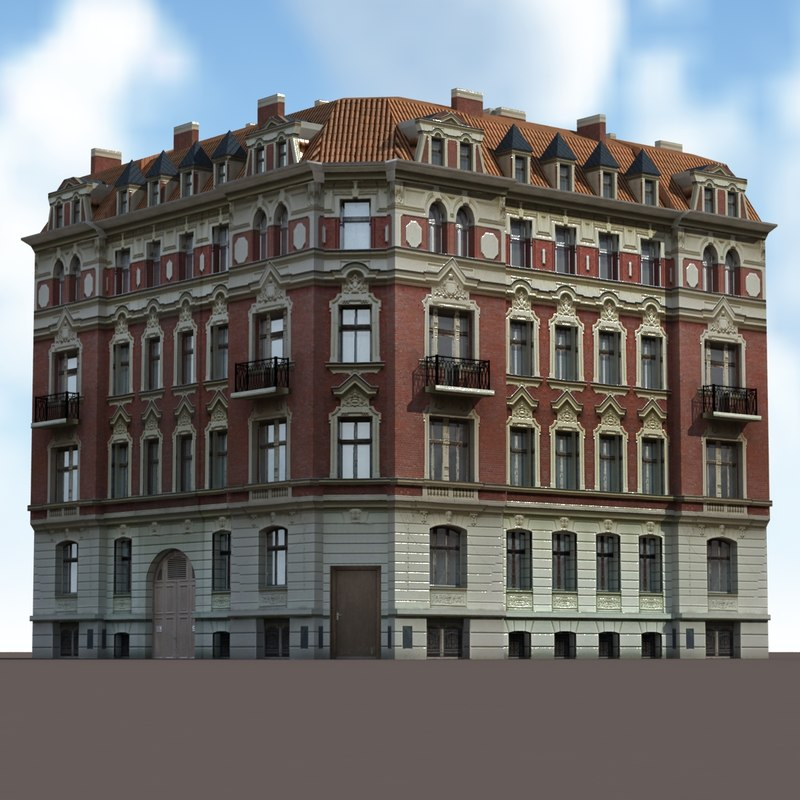 3d max old building