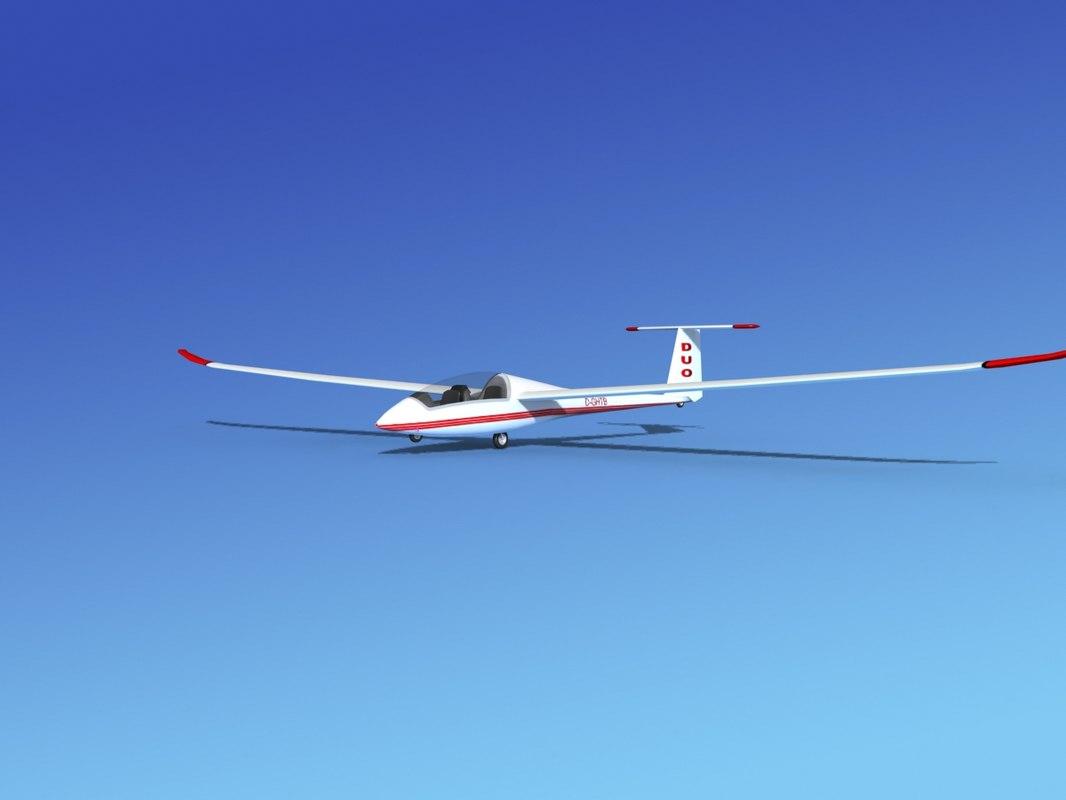 3d discus duo sailplane plane