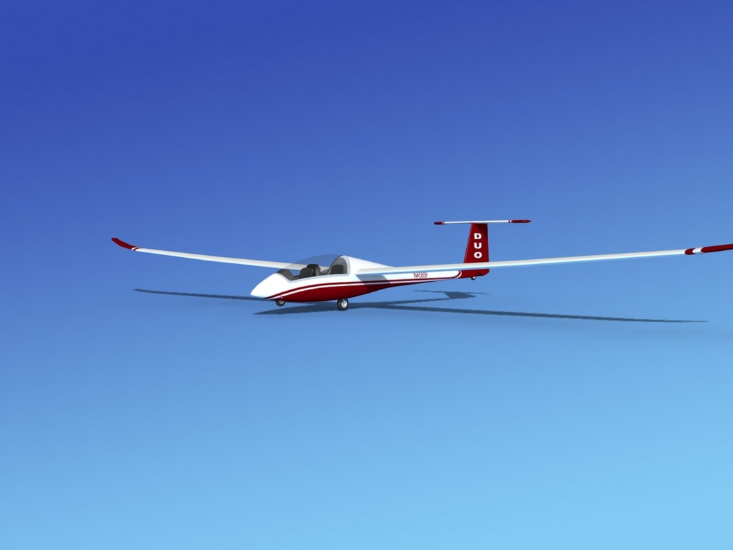 3ds max discus duo sailplane plane