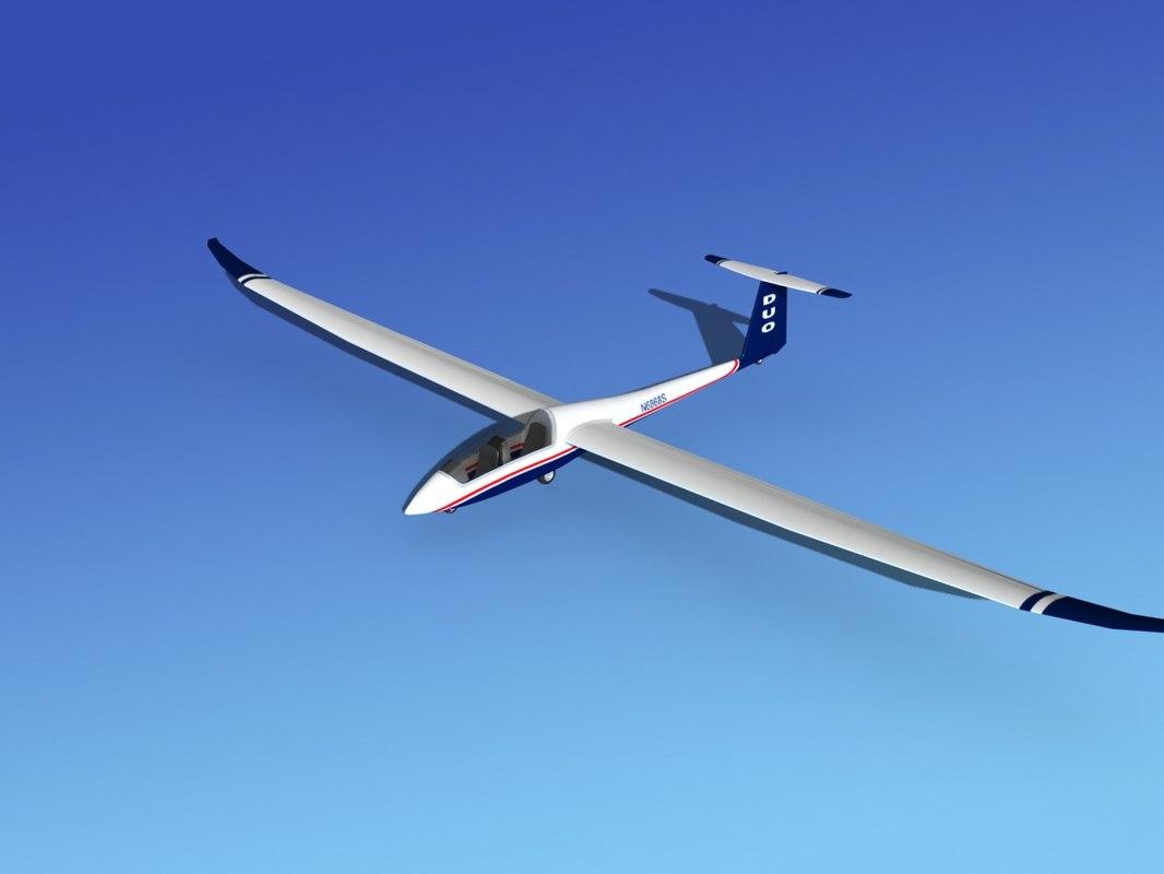3d model of discus duo sailplane plane