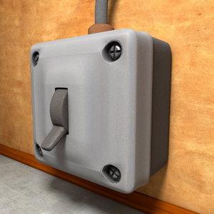 3d vintage light switch