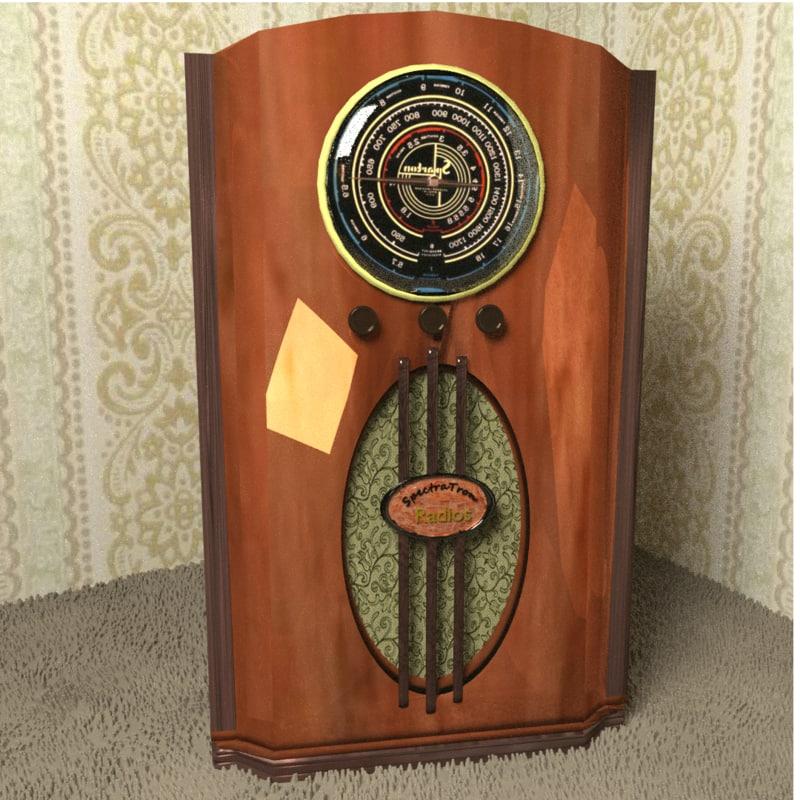 blend antique radio