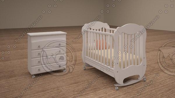 3d model children s furniture