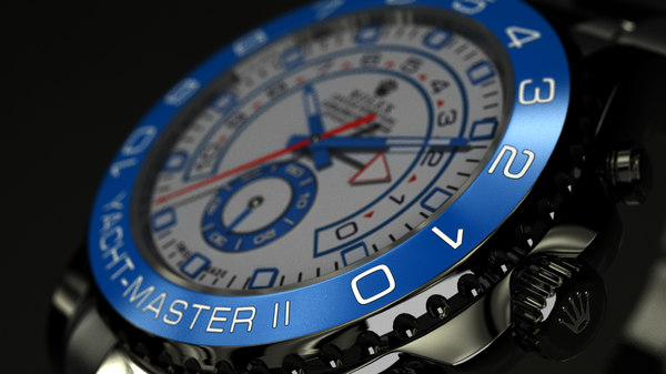 rolex yacht master ll 3d model