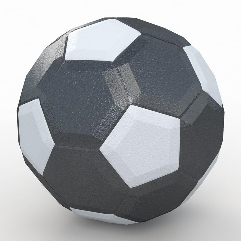 3d max soccer ball