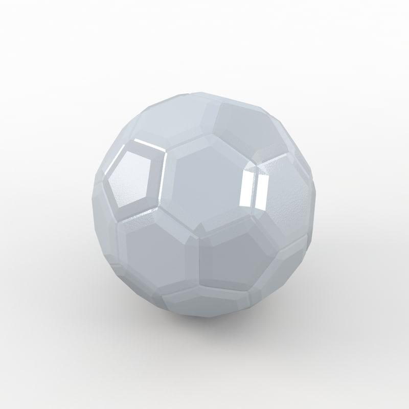 soccer ball white 3ds