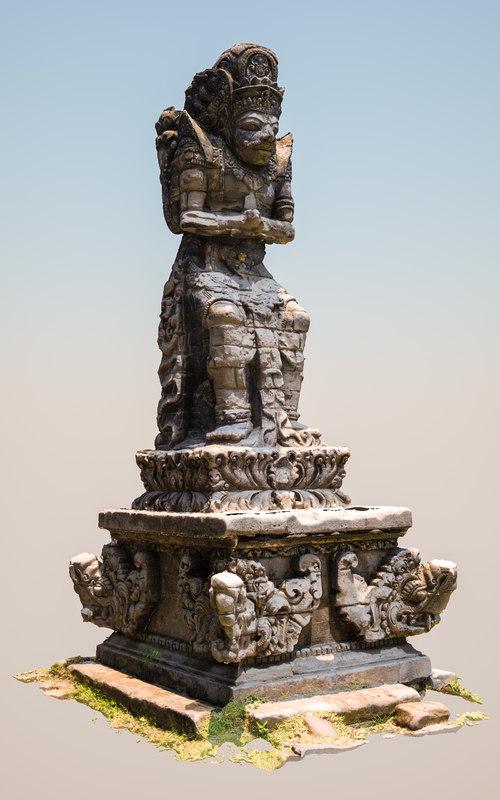 3dsmax statue tanah lot